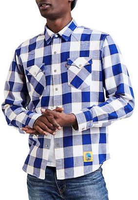 Levi's Golden State Warriors Plaid Western Cotton Sport Shirt