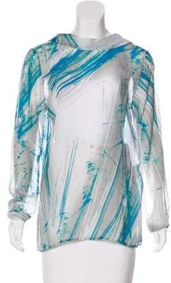 Poleci Silk Printed Blouse
