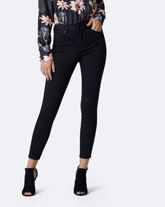 Petite Poppy Mid Rise Ankle Grazer Jeans