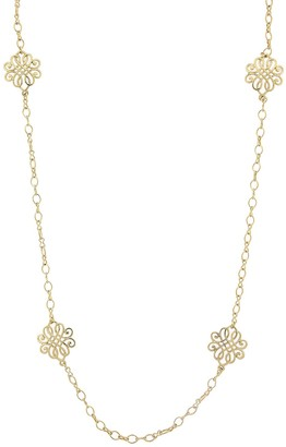 1928 Filigree Intertwined Station Necklace