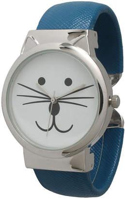 OLIVIA PRATT Olivia Pratt Womens Tomcat Dial Royal Leather Cuff Watch 13895