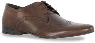 Topman Brown Leather Brisk Derby Brogues