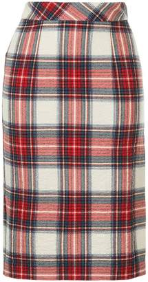 Moschino plaid pencil skirt