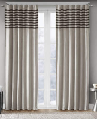 "Madison Home USA Dune Microsuede Stripe Pair of 42"" x 63"" Window Panels"