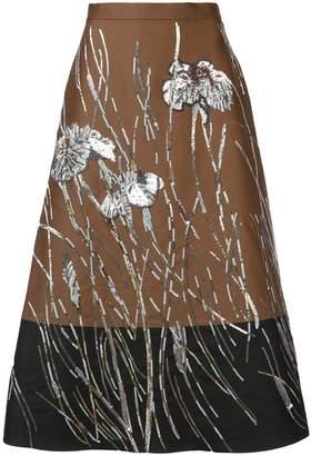 Rochas high-waist floral skirt