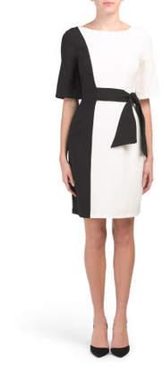 Fit & Flare Tie Waist Dress