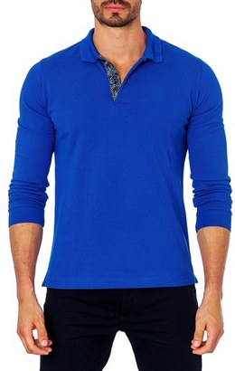 Men's Jared Lang Long Sleeve Polo $79 thestylecure.com