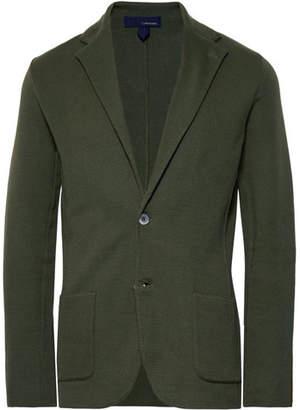 Lardini Dark-Green Slim-Fit Unstructured Cotton Blazer