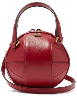 Gucci Tifosa Basketball Grained Leather Shoulder Bag - Womens - Red
