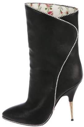 Gucci Embellished Mid-Calf Boots Black Embellished Mid-Calf Boots