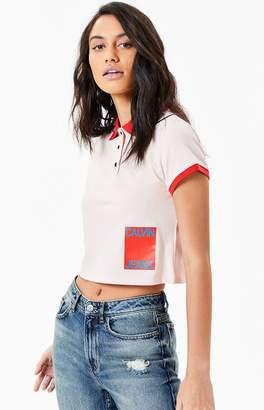 Calvin Klein Cropped Polo T-Shirt