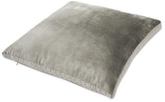 Williams-Sonoma Williams Sonoma Velvet Pillow Cover with Greek Key Trim, Grey