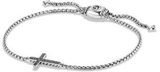 David Yurman Davidyurman Pave Cross Bracelet With Black Diamonds