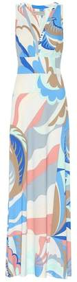 Emilio Pucci Printed silk-blend maxi dress