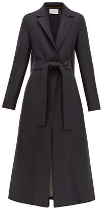 Harris Wharf London Single Breasted Belted Wool Coat - Womens - Dark Grey