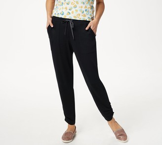 Logo By Lori Goldstein LOGO Lounge by Lori Goldstein French Terry Pant with Ruched Leg