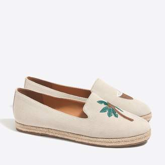 J.Crew Factory Tropical embroidered slip-on espadrilles