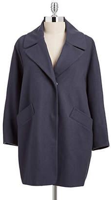 Andrew Marc Plus Wendy Wool-Blend Melton Coat