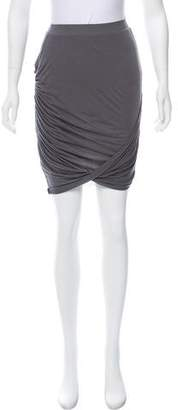Helmut Lang Jersey Knee-Length Skirt w/ Tags