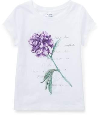 Ralph Lauren Floral Jersey Graphic T-Shirt