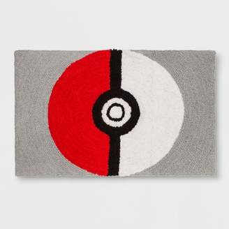 "Pokemon Shaggy Pokeball 2'5""x4' Elevated Rug"