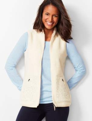 Talbots Soft Sherpa Vest
