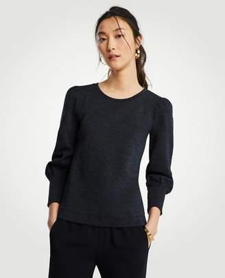 Ann Taylor Puff Sleeve Sweatshirt