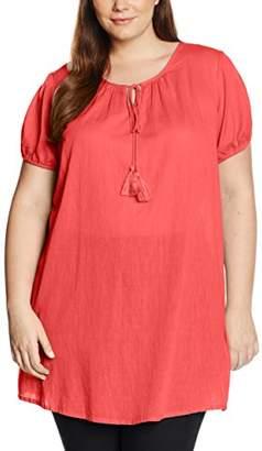 Zizzi Women's Regular Fit Short Sleeve Blouse - Red