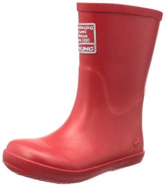 Viking Unisex - Child CLASSIC INDIE Rubber Boots Red Rot (red 10) Size: