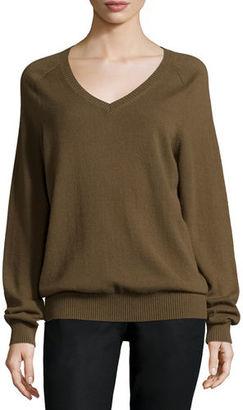 Vince Cashmere Raglan V-Neck Sweater $320 thestylecure.com