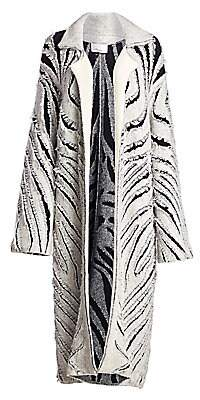 3.1 Phillip Lim Women's Zebra Fringe Coat