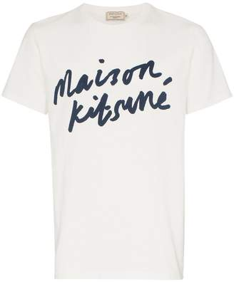 MAISON KITSUNÉ logo print cotton T-shirt