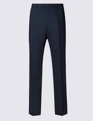 Marks and Spencer Navy Regular Fit Trousers