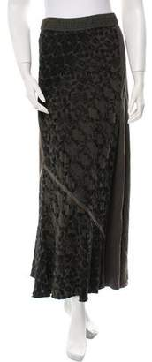 Burning Torch Embroidered Midi Skirt w/ Tags