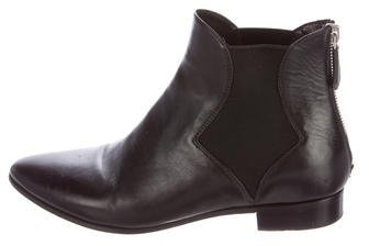 prada Prada Leather Chelsea Ankle Boots