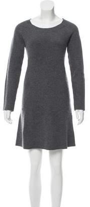 Allude Long Sleeve Mini Dress