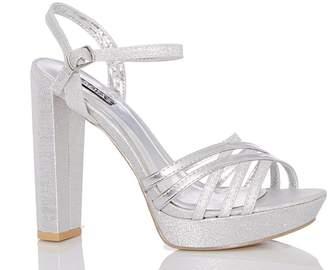 Silver Glitter Heels - ShopStyle Australia 7f7223195418
