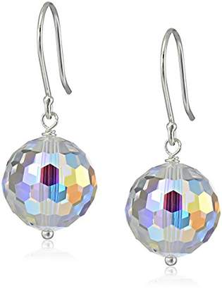 Swarovski Sterling Silver and Elements Crystal Aurora Borealis Drop Earrings