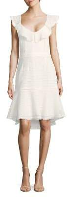 Adelyn Rae Ruffle Trimmed Fit-&-Flare Dress
