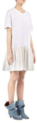 Stella McCartney Taffeta Ruffle Hem T-Shirt Dress
