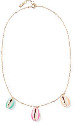 Aurelie Bidermann Gold-plated, Shell And Enamel Necklace