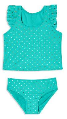 Hula Star Girls' Twinkle Star 2-Piece Tankini Swimsuit - Little Kid