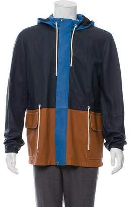 Loewe Colorblock Leather Parka w/ Tags