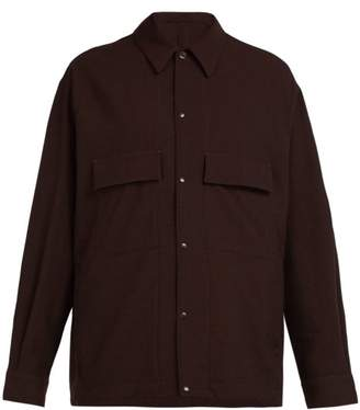 Lemaire - Patch Pocket Wool Overshirt - Mens - Brown