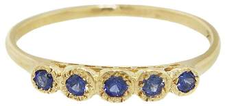 Lori McLean Five Blue Sapphire Band Ring