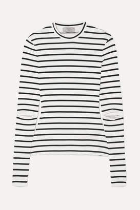 Preen by Thornton Bregazzi Nikki Cutout Striped Stretch-jersey Top - White