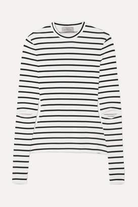 Preen by Thornton Bregazzi Nikki Cutout Striped Stretch-jersey Top - White