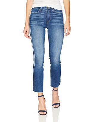 """Paige Women's Hoxton Straight Ankle """" w/Piping + Raw Hem"""