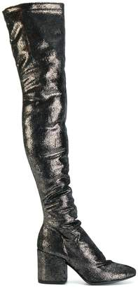 Strategia metallic knee boots