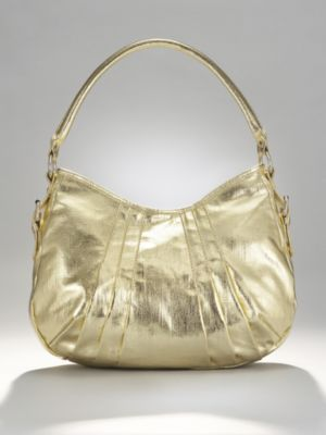 City Style Metallic Gold Hobo Bag